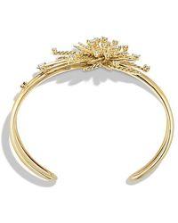 David Yurman - Supernova Cuff Bracelet With Diamonds In 18k Gold - Lyst