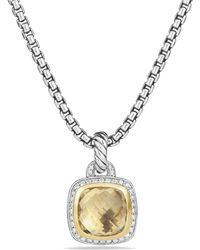 David Yurman - Albion® Pendant With Champagne Citrine, Diamonds And 18k Gold, 11mm - Lyst