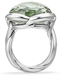 David Yurman - Continuance® Ring With Prasiolite, 20mm - Lyst