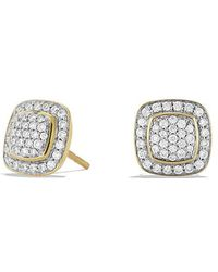 David Yurman - Petite Albion Earrings With Diamonds In 18k Gold - Lyst