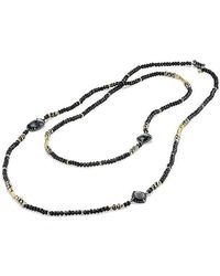 David Yurman | Bijoux Bead Necklace With Hematine, Black Spinel, Pyrite And 18k Gold | Lyst