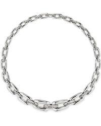 David Yurman - Wellesley Linktm Short Chain Necklace With Diamonds - Lyst