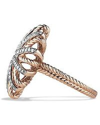 David Yurman | Starburst Ring With Diamonds In Rose Gold | Lyst