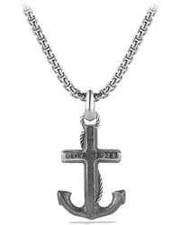 David Yurman - Maritime Anchor Amulet - Lyst