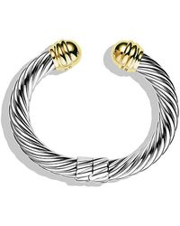 David Yurman - Cable Classics Bracelet With 14k Gold, 10mm - Lyst