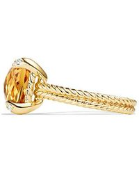 David Yurman - Chatelaine Ring Citrine And Diamonds In 18k Gold - Lyst