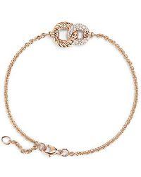 David Yurman - Belmont Curb Link Pendant Bracelet With Diamonds In 18k Gold - Lyst
