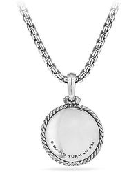 David Yurman - Cable Collectibles Lotus Amulet With Diamonds - Lyst