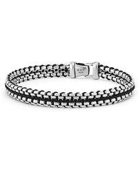 David Yurman - Woven Box Chain Bracelet In Black - Lyst