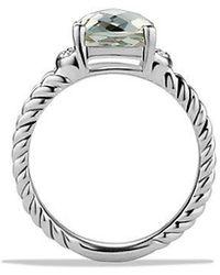 David Yurman - Petite Wheaton® Ring With Prasiolite And Diamonds - Lyst