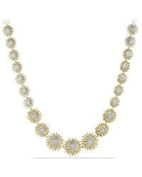 David Yurman - Starburst Linked Necklace With Diamonds In 18k Gold - Lyst