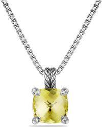 David Yurman - Châtelaine Pendant Necklace With Lemon Citrine And Diamonds - Lyst