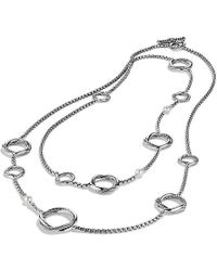 David Yurman - Infinity Station Chain Necklace With Pearls - Lyst