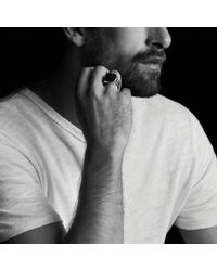 David Yurman - Knife-edge Signet Ring With Black Onyx - Lyst