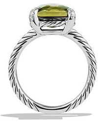 David Yurman | Châtelaine Ring With Green Orchid And Diamonds, 11mm | Lyst