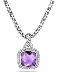David Yurman - Albion® Pendant With Amethyst And Diamonds, 11mm - Lyst