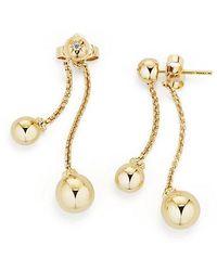David Yurman - Solari Chain Drop Earrings With Diamonds In 18k Gold - Lyst