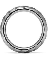 David Yurman - Modern Cable Wide Band Ring In Gray Titanium, 9mm - Lyst