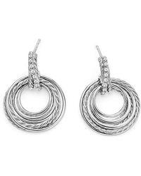 David Yurman - Crossover Drop Earrings With Diamonds, 30mm - Lyst