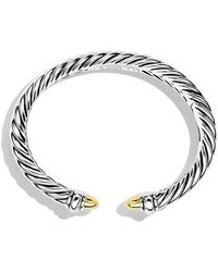 David Yurman | Sculpted Cable Bracelet With 18k Gold, 5mm | Lyst