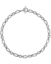 David Yurman - Cushion Link Necklace With Diamonds, 9.5mm - Lyst