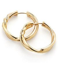 David Yurman - Continuance® Hoop Earrings With Diamonds In 18k Gold - Lyst