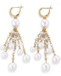 David Yurman - Oceanica Tassel Earrings With Pearls And Diamonds In 18k Gold - Lyst