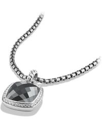 David Yurman - Albion® Pendant With Hematine And Diamonds, 14mm - Lyst