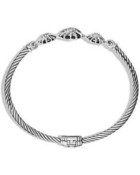 David Yurman - Starburst Three-station Cable Bracelet With Diamonds, 3mm - Lyst
