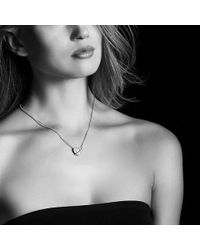 David Yurman - Le Petit Coeur Sculpted Heart Chain Necklace With Milky Aquamarine And Diamonds - Lyst