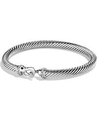 David Yurman | Cable Buckle Bracelet With Diamonds, 5mm | Lyst