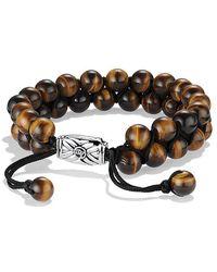 David Yurman | Spiritual Beads Two-row Tiger's Eye Bracelet | Lyst