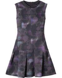 Rebecca Taylor Floral Haze Mock Neck Dress - Lyst