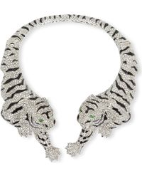 Roberto Cavalli Tiger Jewelled Necklace - Lyst