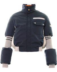 Thomas Tait Bi-colour Quilted Ski Jacket - Blue