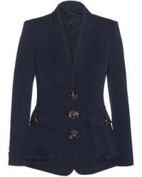 Burberry Prorsum Blue Wool Blazer - Lyst