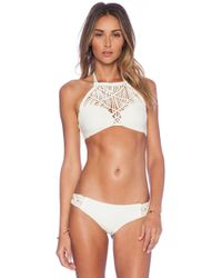 Mikoh Swimwear Waimea Woven Halter Bikini Top - Lyst