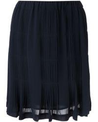 MICHAEL Michael Kors Pleated Skirt - Lyst