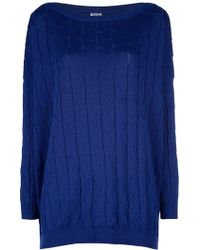Romeo Gigli Cable Knit Sweater - Lyst