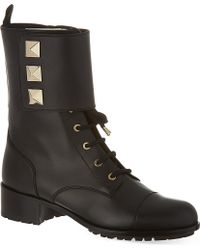 Valentino Combat Boots With Studs - For Women - Lyst