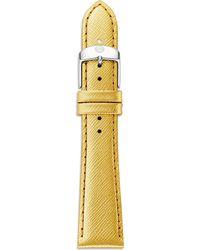 Michele Metallic Saffiano Leather Watch Strap/20Mm - Lyst