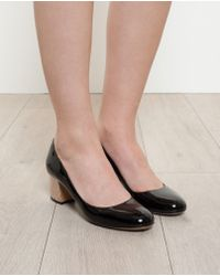 Pollini Patent Leather Pumps with Holographic Heel - Lyst