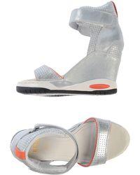 Ash Silver Sandals - Lyst