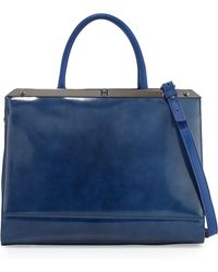 Halston Heritage Large Satchel Bag with Strap - Lyst