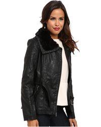 Jessica Simpson Black Jofmu486 Coat - Lyst