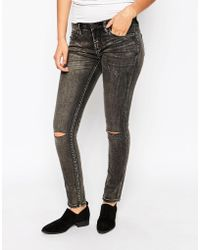 Blank - Nyc Skinny Jean With Ripped Knees - Black - Lyst
