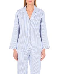Bodas Verbier Cotton Pyjama Shirt - Blue