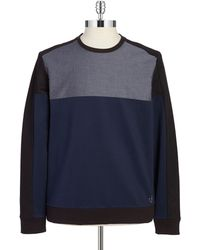 Calvin Klein Contrast Pullover black - Lyst