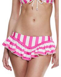 Juicy Couture Boho Striped Skirted Swim Bottom Beauty Medium8 - Lyst