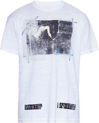 Off-White c/o Virgil Abloh | Caravaggio Annunciation-print Cotton T-shirt | Lyst
